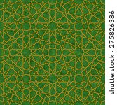 arabesque star pattern with... | Shutterstock .eps vector #275826386