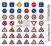 vector set of doodles road... | Shutterstock .eps vector #275838038