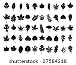 leaf collection | Shutterstock .eps vector #27584218