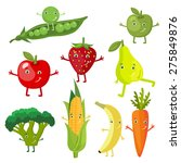 vector fruits and vegetables | Shutterstock .eps vector #275849876