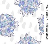 vector seamless pattern with... | Shutterstock .eps vector #275856752