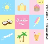 set  1. collection of colorful... | Shutterstock .eps vector #275859266