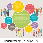 colorful template for... | Shutterstock .eps vector #275865272