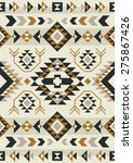 ethnic pattern design. vector... | Shutterstock .eps vector #275867426