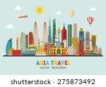 asia skyline detailed... | Shutterstock .eps vector #275873492