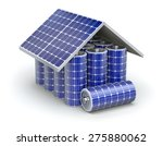 solar home battery concept | Shutterstock . vector #275880062
