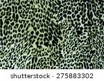 textured fabric leopard... | Shutterstock . vector #275883302