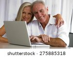 portrait of senior couple using ... | Shutterstock . vector #275885318