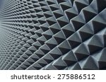 close up of sound proof... | Shutterstock . vector #275886512
