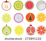 fruit icons | Shutterstock .eps vector #275891132