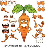 cartoon carrot character.... | Shutterstock .eps vector #275908202