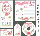 wedding vintage floral bridal... | Shutterstock .eps vector #275916236