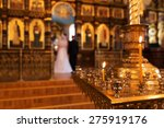 bride and groom in an orthodox... | Shutterstock . vector #275919176