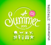 colorful lettering summer and... | Shutterstock .eps vector #275925596