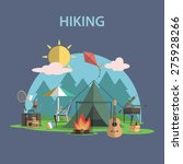 hiking and outdoor recreation... | Shutterstock .eps vector #275928266