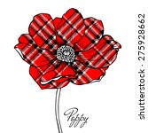 image of a red checkered poppy... | Shutterstock .eps vector #275928662