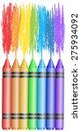 seven pencils draw rainbow ... | Shutterstock .eps vector #275934092