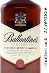 Small photo of Minsk, Belarus - May 05, 2015: Ballantines Bottle Isolated on White Background. Scotland Distilled Beverage. Alcohol Content 40%. Manufacturer Pernod Ricard.