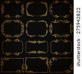 vector set of decorative hand... | Shutterstock .eps vector #275942822