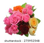Stock photo bouquet of roses with leaves 275952548