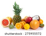 fresh fruits isolated on a... | Shutterstock . vector #275955572