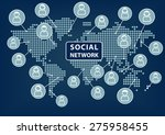 social network text with world... | Shutterstock .eps vector #275958455