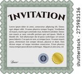 green invitation template | Shutterstock .eps vector #275983136