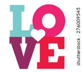 love happy valentines day card  ... | Shutterstock .eps vector #276009545