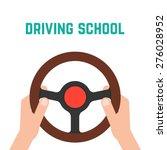 hand holding steering wheel....   Shutterstock .eps vector #276028952