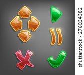 gaming design elements. vector...