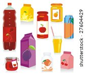 isolated fruit containers | Shutterstock .eps vector #27604429