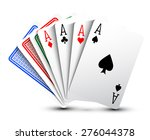 poker cards | Shutterstock .eps vector #276044378