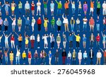 multiethnic casual people... | Shutterstock . vector #276045968