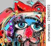 abstract digital artwork... | Shutterstock .eps vector #276051572