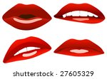 beautiful sexy lips collection. | Shutterstock . vector #27605329