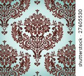 Seamless Damask Floral...