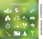 camping icon set  | Shutterstock . vector #276059042