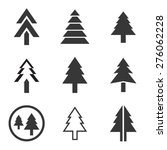 pine tree vector icons set | Shutterstock .eps vector #276062228