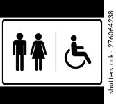 man and lady toilet sign ... | Shutterstock .eps vector #276064238