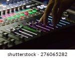 audio mixer mixing board fader... | Shutterstock . vector #276065282