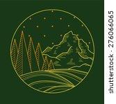flat liner mountain landscape | Shutterstock .eps vector #276066065