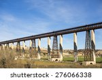 metal bridge train | Shutterstock . vector #276066338