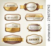 luxury premium quality golden... | Shutterstock .eps vector #276073742