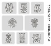 set of monochrome icons with... | Shutterstock .eps vector #276075872