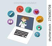 online medical consultation | Shutterstock .eps vector #276083708