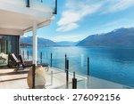 beautiful terrace of a modern... | Shutterstock . vector #276092156