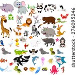big animal cartoon set | Shutterstock .eps vector #276095246