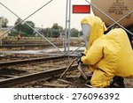 man outfit in biological...   Shutterstock . vector #276096392