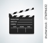 black open clapperboard.... | Shutterstock .eps vector #276096632