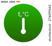 thermometer. icon. vector design | Shutterstock .eps vector #276099662